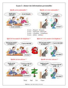 FLE - Leçon 2 - Donner des informations personnelles - Page 1