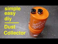 How to Make ● Simple Cyclone Dust Collector - YouTube Diy Projects Plans, Wood Shop Projects, Woodworking Projects Diy, Woodworking Workshop, Woodworking Shop, Dust Collector Diy, Shop Dust Collection, Dust Extractor, Diy Shops