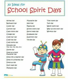 Spirit Day Ideas More