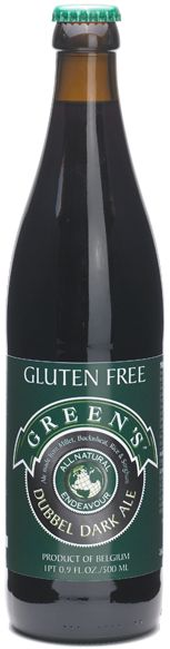 Green's Dubbel Ale.  My favorite gluten free beer.  It is very pricey though, so I don't have that often.