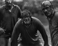 English rugby icon Fran Cotton was immortalized by this 1977 mud shot, which featured British Lions forwards waiting for the match against the Junior All Blacks to end. A drenched war presents perhaps the most beloved shot in rugby history, captured perfectly by Colin Elsey.