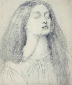 One of my favourite Lizzie drawings by Dante Gabriel Rossetti