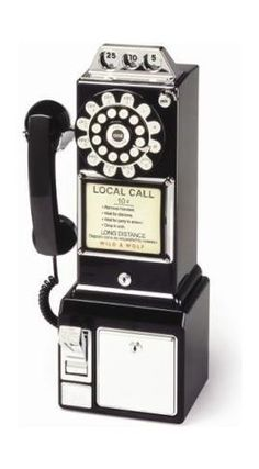 """This is where the saying """"drop a dime"""" comes from... the pay phone."""