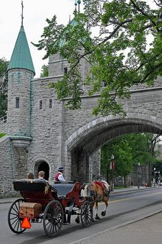 City Gate of Old Quebec City, Rue St. Louis, Quebec, Canada