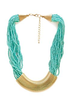 Earthy Element Beaded Necklace | FOREVER21 #Accessories