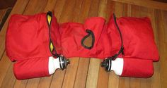 Sturdy nylon saddle horn bags with bottles heavy red nylon Gunderson Sunrise Products