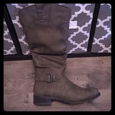 Taupe riding boots Worn one time and they are too big. Excellent condition and super comfortable! Shoes Winter & Rain Boots