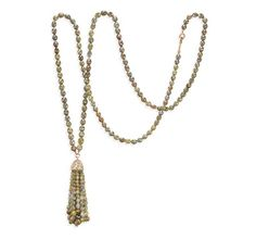 "Ivanka Trump Tassel Necklace in Rose Gold with Colored Diamond Beads (36"") at London Jewelers!"