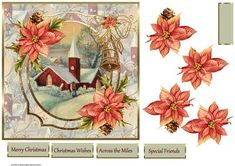 Vintage church 7x7 card with decoupage and sentiment tags