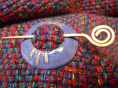 Purple Shawl or Hair Pin by TurtleLaneCollective on Etsy, $40.00