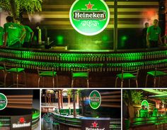Promotional Marketing - Heineken Bar created for an event, created from scratch using 3D Modelling Softwares after approval built in real life.
