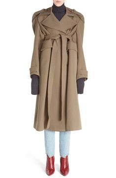 Vetements Wool Military Coat available at #Nordstrom