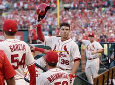 Derrick Goold: Cardinals' rookie Aledmys Diaz arrives at All-Star Game. Cardinals Players, Cardinals Game, St Louis Cardinals Baseball, Mlb Stadiums, Mlb Teams, Personalized T Shirts, Casual Elegance, Custom T, New Wave