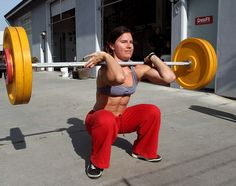 cross fit red squat