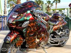 The Rat's Hole Custom Bike Show celebrated its anniversary during Bike Week 2012 with over 180 custom motorcycles competing in 22 different categories. Motorcycle Design, Motorcycle Bike, Bike Design, Custom Street Bikes, Custom Sport Bikes, Custom Hayabusa, Futuristic Motorcycle, Cool Motorcycles, Hot Bikes