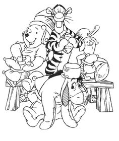 Pooh Christmas Coloring Pages | Free Printable Winnie The Pooh Coloring Pages For Kids