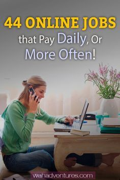 Looking for online jobs with steady income? Check out this list of the best online jobs that pay you daily or weekly. Most even pay through PayPal! via @wahadventures