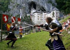 "Medieval Festival (named the Erasmus Knight's Tournament in July) at Predjama Castle in Slovenia: a castle built into the side of a cliff, originally only accessible by caves! There is also a summer event, ""Midsummer's Night"", where candles in eggshells are floated on the Bohinj Lake as fireworks light up the sky."