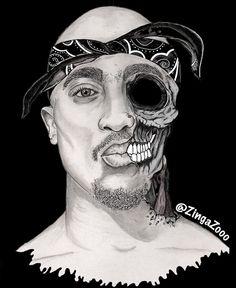 Tupac Zombie by ZingaZooo Art Print