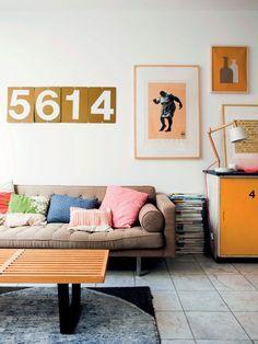 Luftigt rækkehus: Farverig oase - Boligliv: