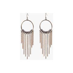 Hoop Tassle Earrings ($19) ❤ liked on Polyvore featuring jewelry, earrings, antique gold, antique gold jewelry, tassel jewelry, tassel earrings, tassel hoop earrings and earring jewelry