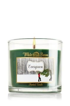 Bath and Body Works Home EVERGREEN White Barn scented glass jar candle 13 oz * Details can be found by clicking on the image.