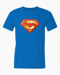 Mens Batman v Superman t-shirt with shiny foil logo. by iganiDesign on Etsy