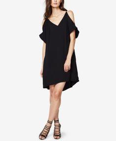 Rachel Rachel Roy Lace-Trim Cold-Shoulder Dress - Black XS