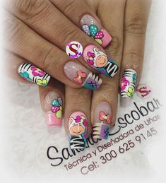 #Manicure uas cortas (notitle) Nail Arts, Spring Nails, Girly Things, Nail Designs, Make Up, San Diego, Mandala, Disney, Outfits