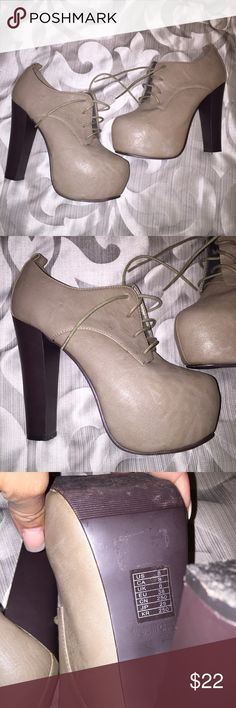 Forever 21 Booted Heels Size 8. Tight fitting, high heel. Forever 21 Shoes Heeled Boots