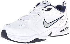 wholesale dealer 7f275 970af (Nike Mens Golf Shoes Clearance) NIKE Men s Air Monarch IV Athletic Shoe,  white metallic silver - midnight navy, US.