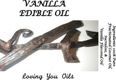 Nature Inspired Vanilla Edible Body Oil by LovingYouOilsAndMore on Etsy