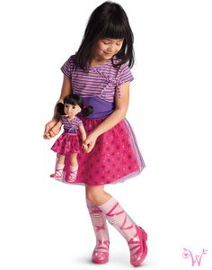 Dolls - Clothes, Games & Gifts for girls All American Girl Dolls, American Girl Clothes, New Outfits, Cool Outfits, Wellie Wishers Dolls, Layered Skirt, Matching Outfits, Gifts For Girls, Doll Clothes