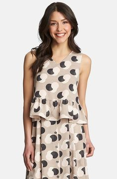 1.State 'Deco Orbit' Ruffle Top available at #Nordstrom