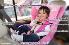 Helpful tips on rear-facing car seats!