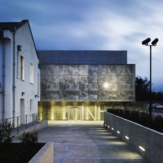 Images from the history of cinematography are printed onto the glass facade of the National Film School on the outskirts of Dublin, ABK