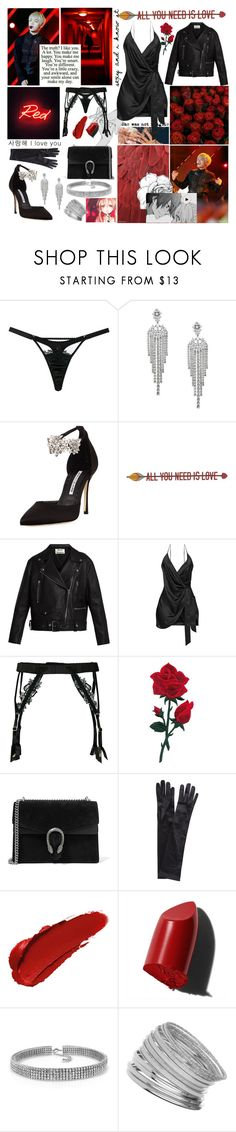 """""""your smile can make my day"""" by sisi-mrpr ❤ liked on Polyvore featuring Fleur of England, Sí.Sí Design, Adriana Orsini, GET LOST, Manolo Blahnik, Home Decorators Collection, Acne Studios, Gucci, John Lewis and Bobbi Brown Cosmetics"""