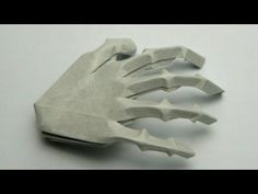 ▶ Origami Hand Skeleton (Jeremy Shafer) - YouTube