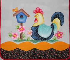 Chicken Crafts, Chicken Art, Tole Painting, Fabric Painting, Cat Crafts, Diy And Crafts, Sennelier Oil Pastels, Chicken Quilt, Wood Burning Crafts