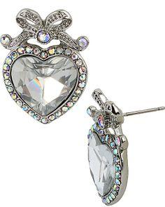 STONE PEARL HEART STUD CRYSTAL accessories jewelry earrings fashion