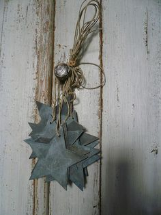 | Tin star Christmas ornaments. There's a link to where you can buy the tin cutouts that are well-priced and they ship to Australia |