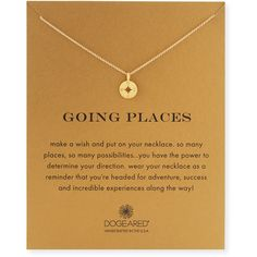 Jewelry OFF! Going Places Gold Compass Pendant Necklace by Dogeared at Neiman Marcus. Cute Jewelry, Jewelry Gifts, Gold Jewelry, Jewelry Accessories, Jewelry Necklaces, Jewlery, 1920s Jewelry, Stylish Jewelry, Gemstone Bracelets