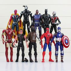 10Pcs Captain America Civil War Avengers Iron Man Ant-Man Hawkeye Spiderman Action Figure Toy //Price: $44.88 & FREE Shipping //     #actionfigure