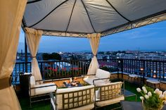 Trilussa Palace's terrace, in the heart of Rome. What a wonderful panorama!