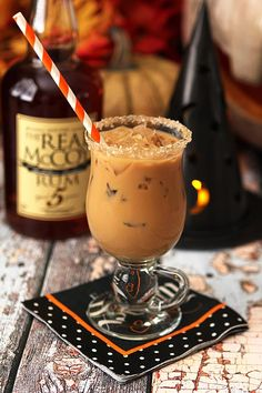 The Halloween Express - Espresso, Rum, Maple Syrup and Half and Half.