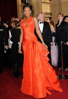 Jennifer Hudson~Academy Awards 2011. Tangerine tango.