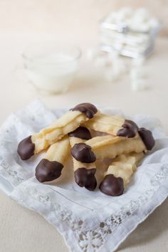 The PERFECT Gluten Free Shortbread Cookie! It's delicious, vegan, easy and dipped in Chocolate! Contains no eggs, no gluten, dairy free, soy or nuts!