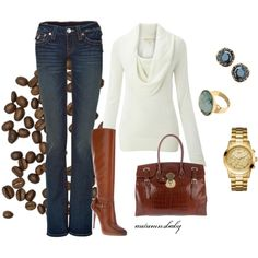 Those coffee beans make me want to go out for coffee with the girlfriends! And this would be the perfect outfit!