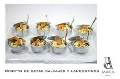 Risotto de setas salvajes y langostinos #boda #catering #jaca #andalucía #gourmet