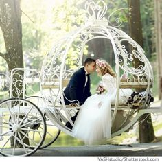 A Disney wedding doesn't have to be over the top, expensive, or even thrown in a castle. You can create your own Disney magic with a few simple tips. Spring Wedding, Wedding Day, Wedding Carriage, Wedding Transportation, Beautiful Fairies, Wedding Officiant, Disney Magic, Wedding Locations, Wedding Destinations